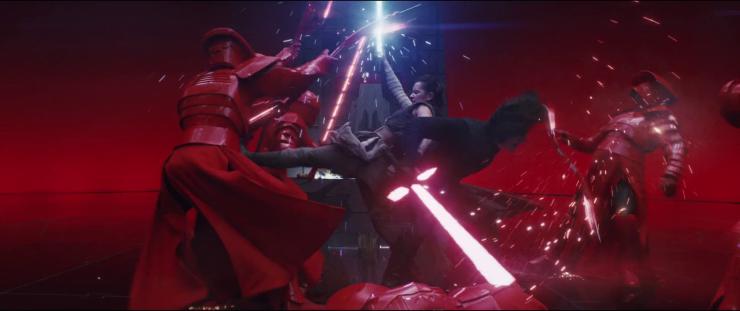 Star Wars Last Jedi - Throne Room Fight